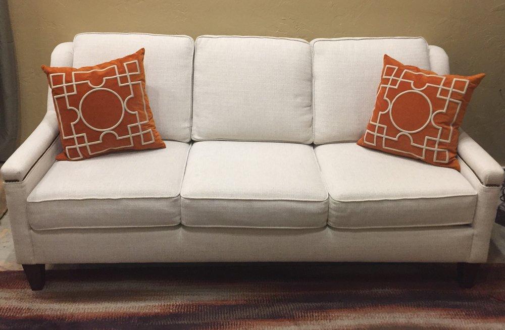 SOLD!!!!!! Cream Tweed Sofa $699.95  C1016  -  20901
