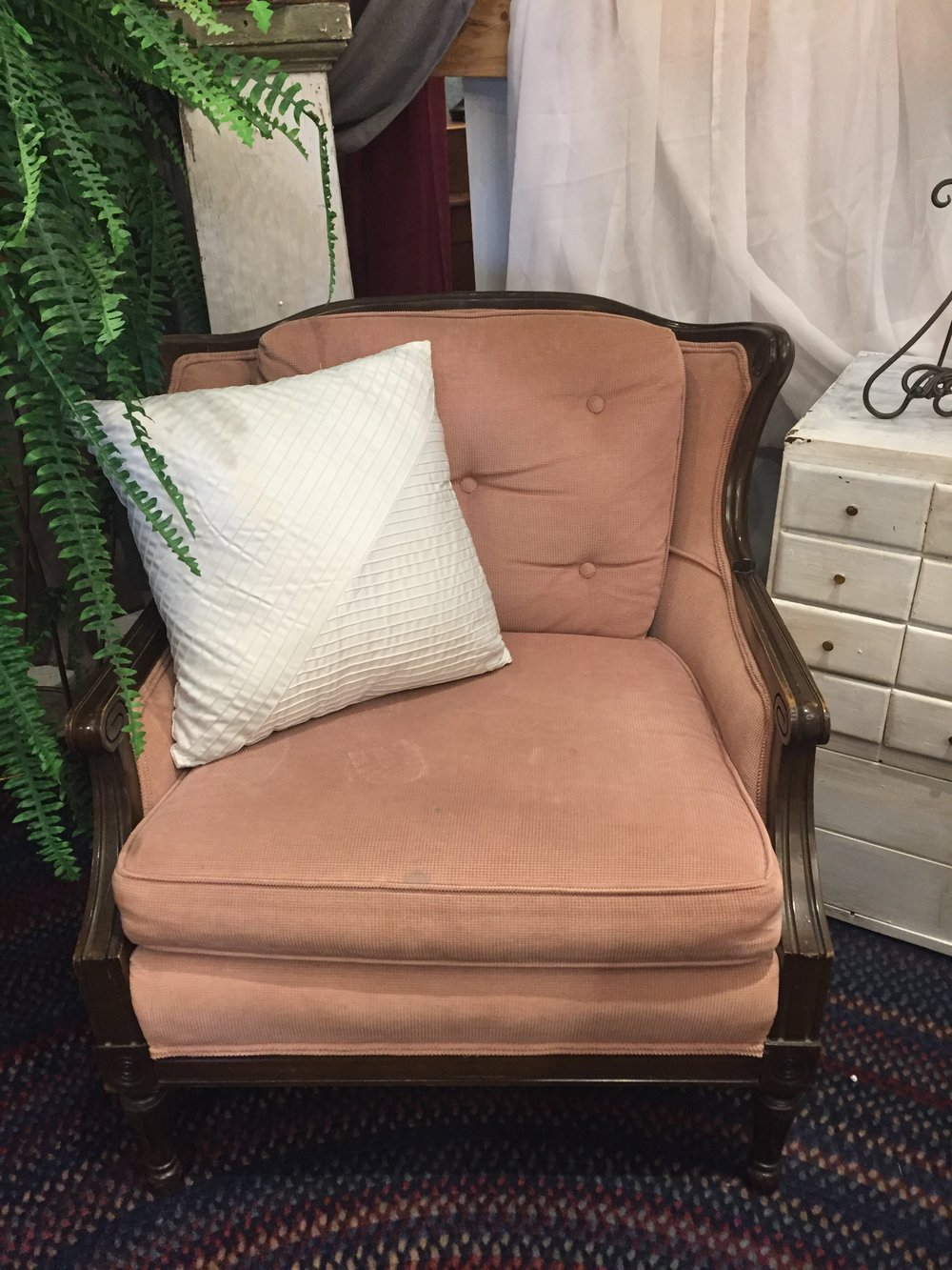 Pink Arm Chair  C0955  -  19132