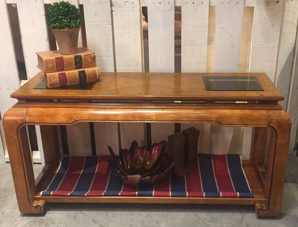 Sofa Table With Glass Inserts $199.95- C0829 19677