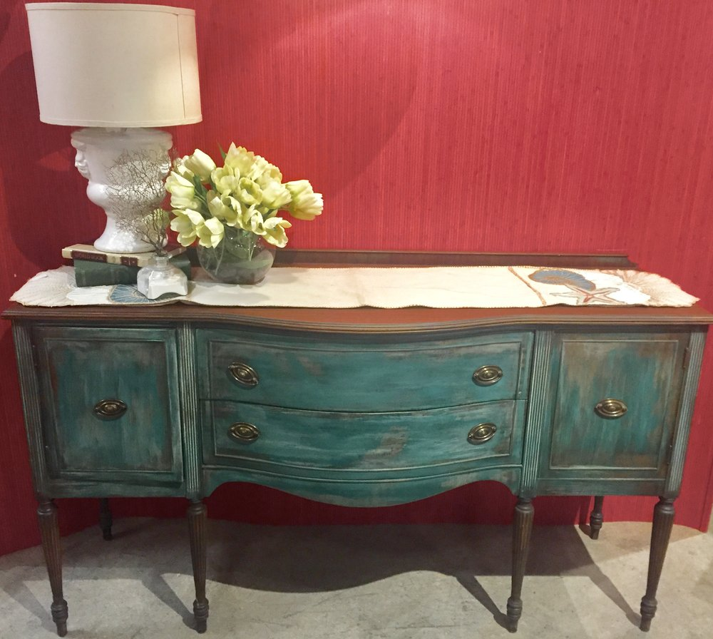 SOLD!!! Painted Antique Buffet $549.00 - C0920 19532