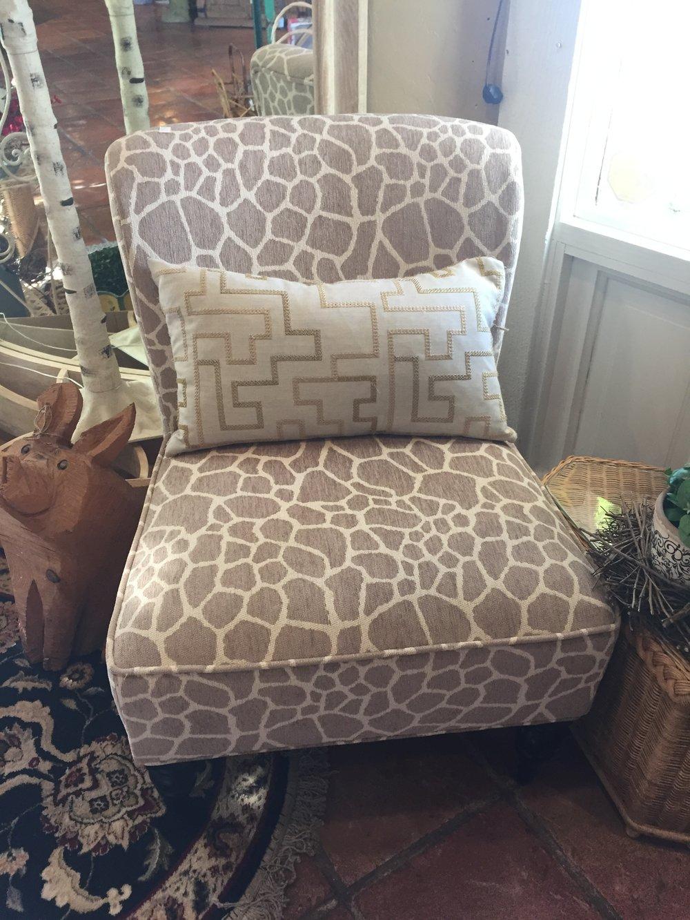 Giraffe Print Accent Chair $229.95 - C1044 21788