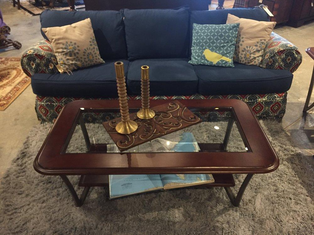 Wood & Glass Coffee Table $129.95 - C0909 21621