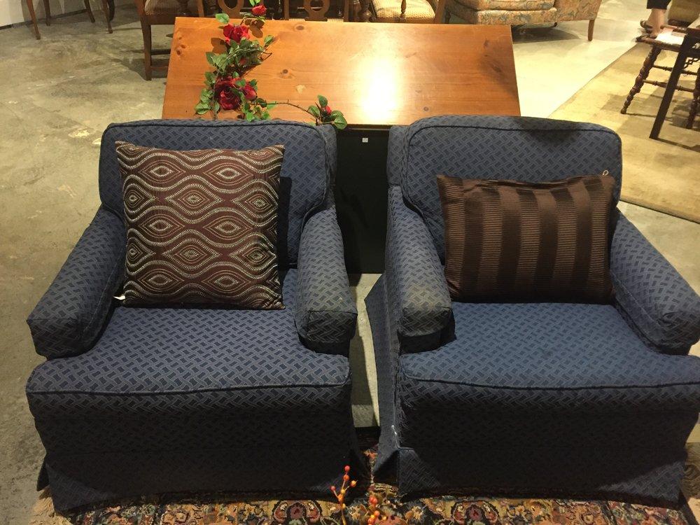 Blue Ethan Allen Club Chairs $129.95 each - C1052 22275