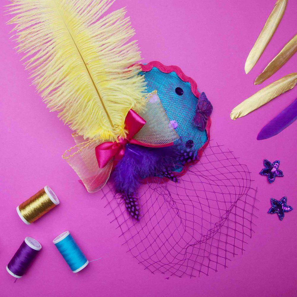 creative hen party ideas | Fascinator making