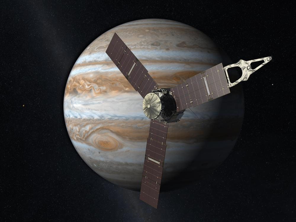 Launching from Earth in 2011, the Juno spacecraft will arrive at Jupiter in 2016 to study the giant planet from an elliptical, polar orbit. Credit: NASA/JPL
