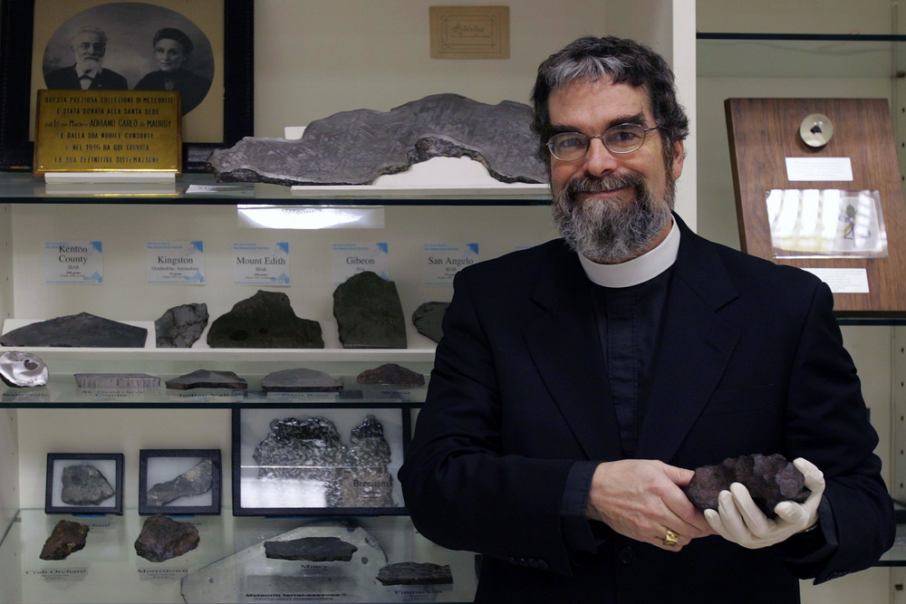 Brother Guy Consolmagno, a staff astronomer and the curator of meteorites at the Vatican Observatory. Credit: Alessia Giuliani.