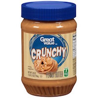 Great Value Crunchy Peanut Butter, 28 ounces Rollback $3.32 (was $3.49)