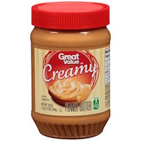 Great Value Creamy Peanut Butter, 28 ounces Rollback $3.32 (was $3.49)