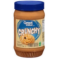 Great Value Crunchy Peanut Butter, 40 ounces Rollback $4.37