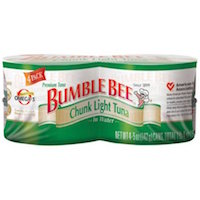 Bumble Bee: Chunk Light In Water 5 Oz Cans Tuna, 4 Ct $3.68