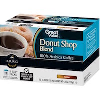 Great Value Donut Shop Blend Medium Roast Coffee K-Cup Packs, 0.38 oz, 12 count $4.47 (was $4.98)