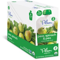 Plum Organics Stage 2 Pears, Spinach and Peas Organic Baby Food, 4 oz, 6 count $7.50 (was $8.28)