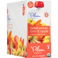 Plum Organics Stage 2 Sweet Potato, Corn & Apple Organic Baby Food, 4 oz, 6 count $7.50 (was $8.28)