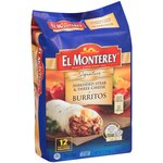 El Monterey All Natural Shredded Steak & Cheese Burritos, 3.75lb, 12ct $10.97