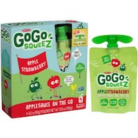 GoGo squeeZ AppleStrawberry Applesauce On The Go, 3.2 oz, 4 count $2.48