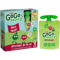 GoGo squeeZ AppleCherry Applesauce On The Go, 4 count $2.48