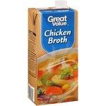 Great Value Chicken Broth, 32 oz Rollback $1.48 (was $1.86)