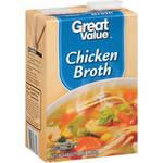 Great Value Chicken Broth, 48 oz Rollback $1.98 (was $2.34)