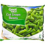 Great Value Frozen Cut Green Beans, 12 oz $0.98