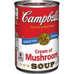 Campbell's Cream of Mushroom Soup, 10.5oz Rollback $0.80 (was $1.25)