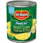 Del Monte Sweet Cream Style Corn, 8.25 oz $0.67