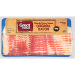 Great Value Naturally Hardwood Smoked Bacon, 12 oz $2.74