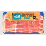 Great Value Hardwood Smoked, Thick Sliced Bacon, 12 oz $2.74