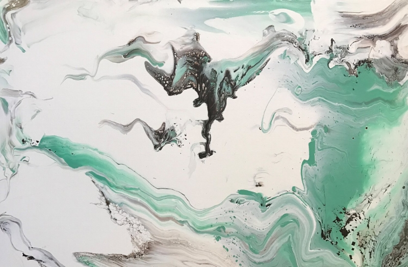 "24""x36"" Transformation  Acryli0c on Canvas"