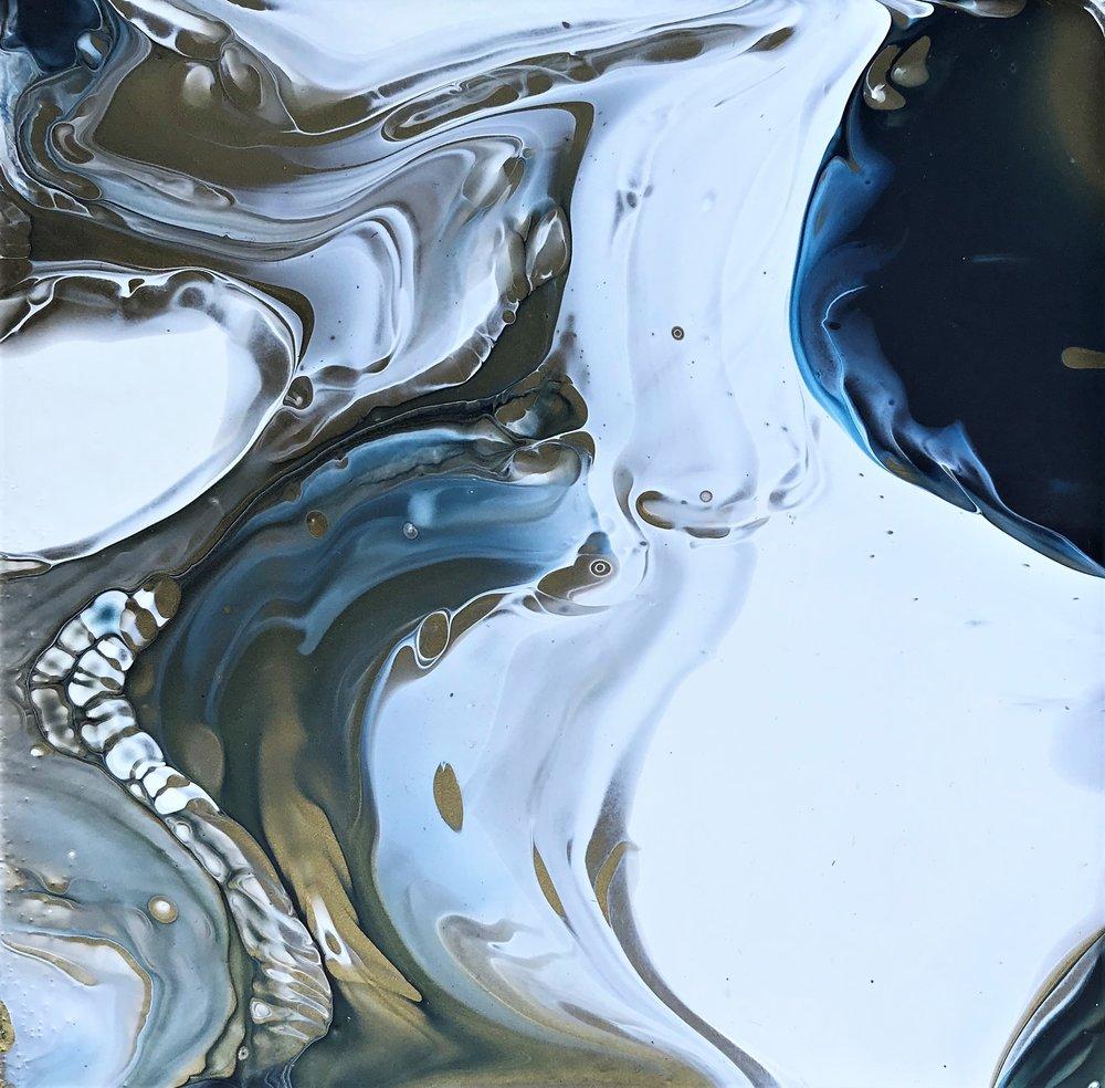 "6""x6"" Mixed media on canvas - #012"