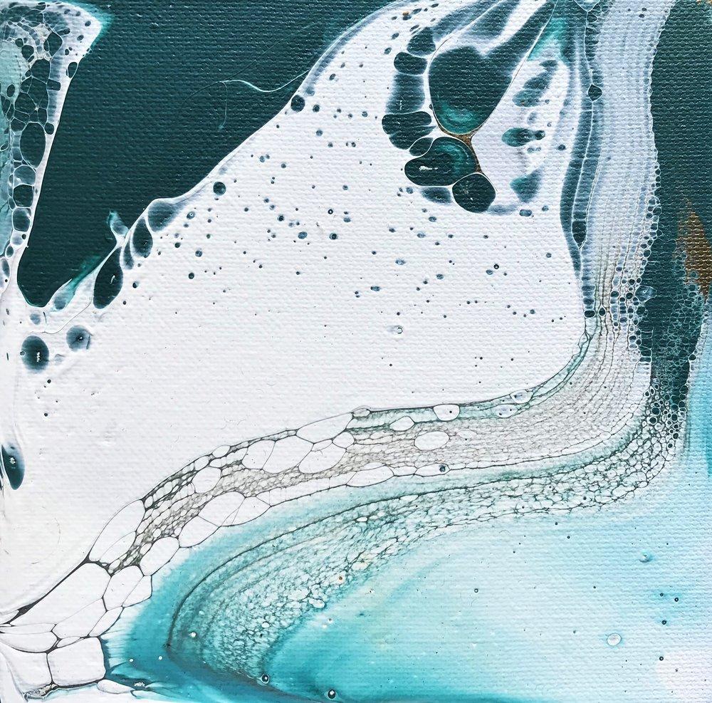 """6""""x6"""" Acrylic on canvas - #021"""