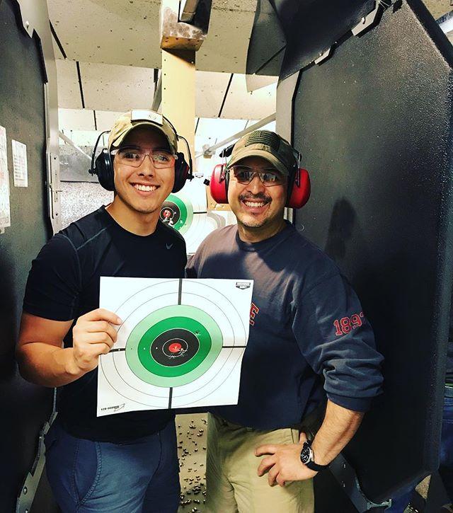 Father and son, gettin it done! #2ndamendment #bullseye