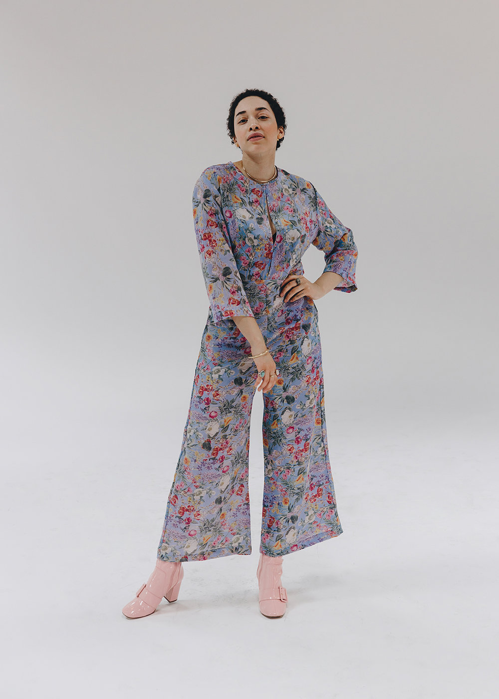 'Sonina' romper in Lilac Primrose,  $388