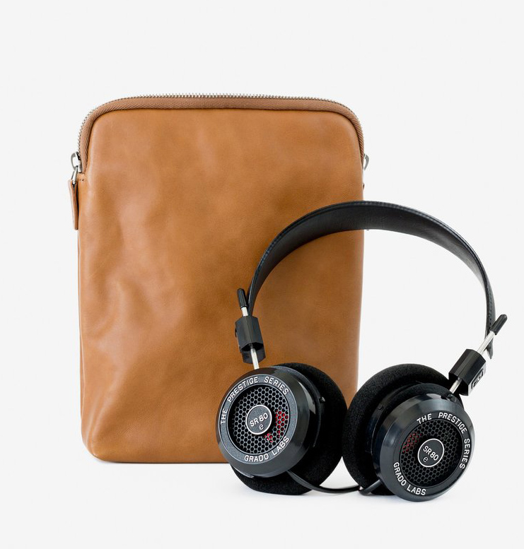 This Is Ground x Grado headphones + leather sleeve, $199
