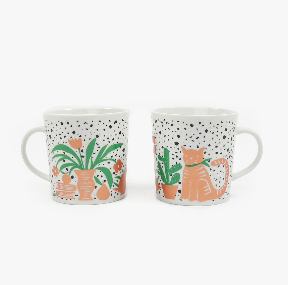 'Cat Still Life' mug, $22 (via Individual Medley)