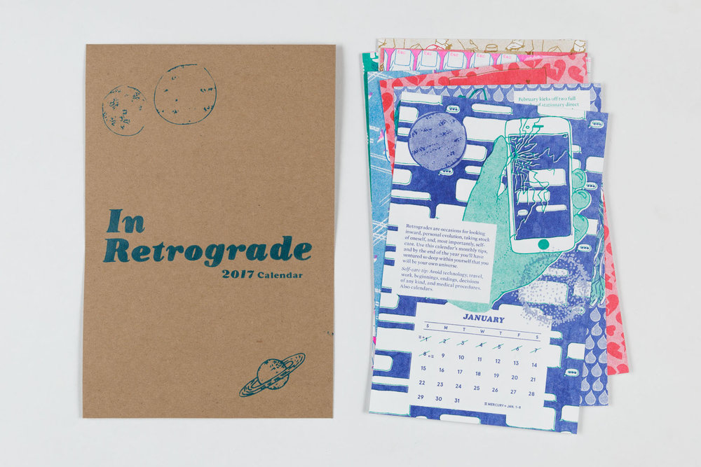 Becca Lofchie 'In Retrograde' 2017 Calendar, $24