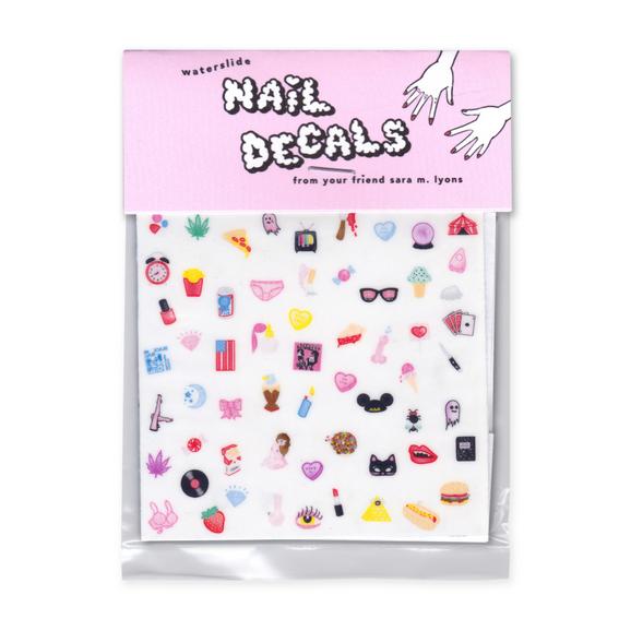 Sara M. Lyons nail decals,  $8 (via Myrtle)