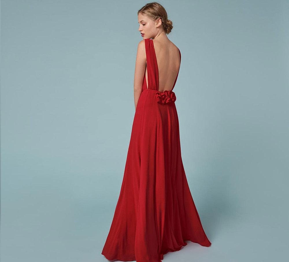 Reformation 'Anne' dress in Poinsettia, $428