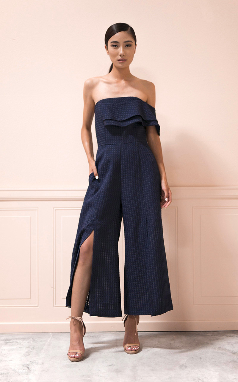 Vivian Chan 'Mari' Jumpsuit in Navy, $498