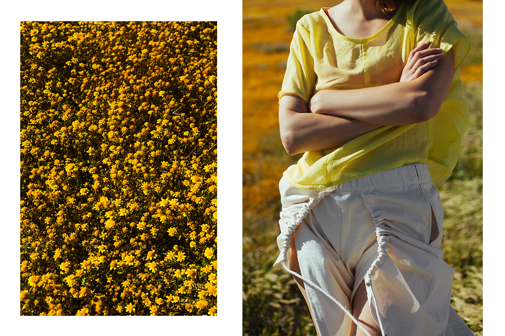 Jill Aiko Yee  'Explorer' top , Botanica Workshop  'Aya' bralette , Désiréeklein shorts