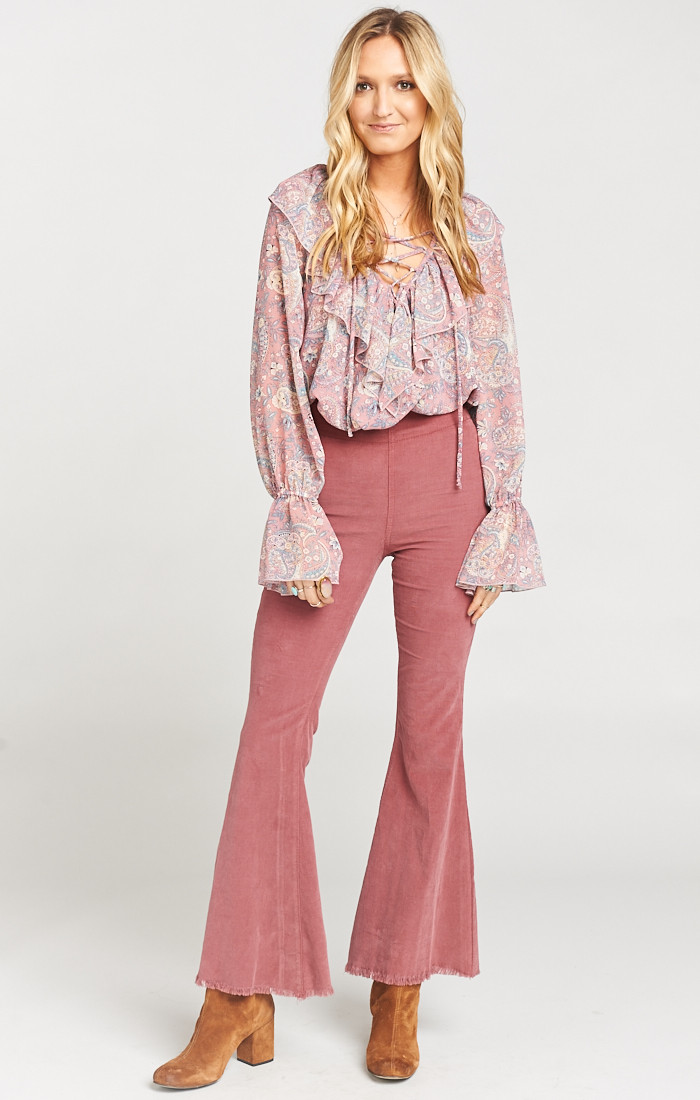 Show Me Your Mumu 'Kellie Pick' flares in Mauve, $162