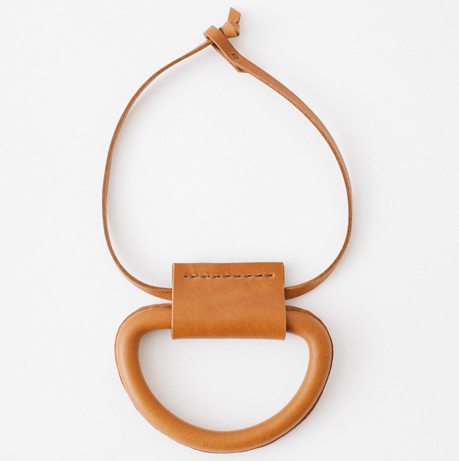 Crescioni 'Logan' necklace in Saddle Brown, $255