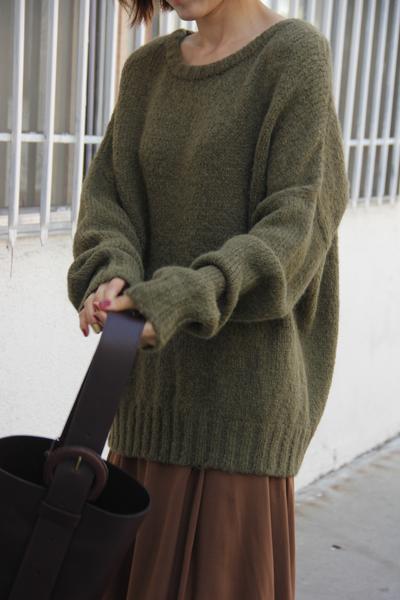 Atelier Delphine 'Lark' sweater in Olive,  $276