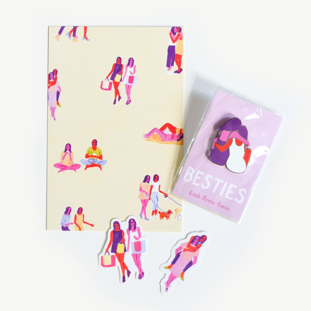 Leah Reena Goren 'Bestie' pin pack,  $15