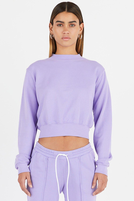 Cotton Citizen 'Milan' crew in Pastel Purple,  $195