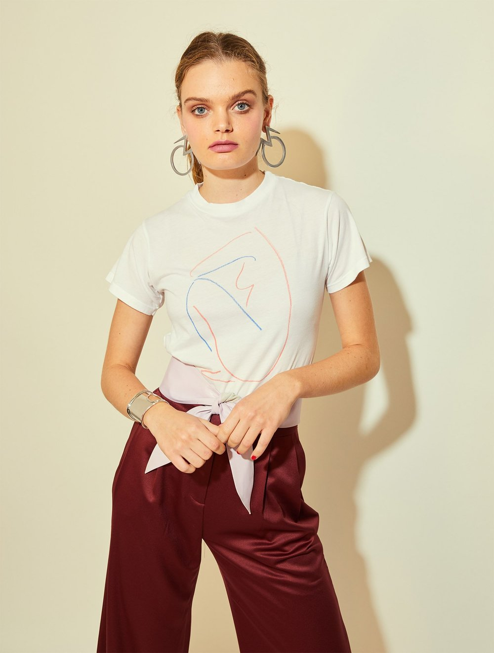 Monogram 'Silhouette' Tee with art by Alexa Coe,  $65