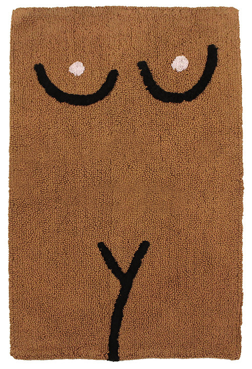 Cold Picnic 'Torso' bathmat in Brown,  $60