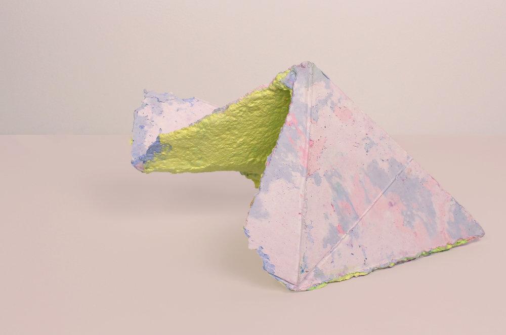 Mariana Garibay Raeke Topographic Geometry (INT PY) Paper, pigment, plaster. 12 x 7 x 6 in.