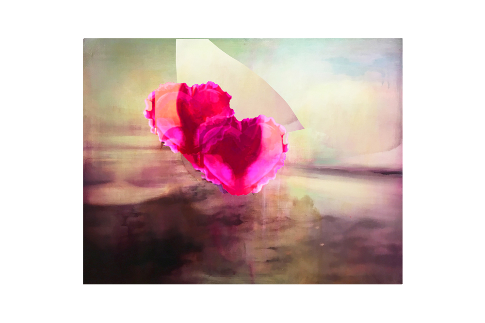 Seascape and Hearts 2017 Digital Print on German Hahnemuhle paper 15.75 x 26.62 in