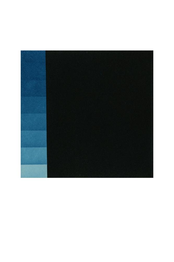 Untitled (Blue and Black) 2017 Digital Print on German Hahnemuhle paper 15.75 x 26.62 in