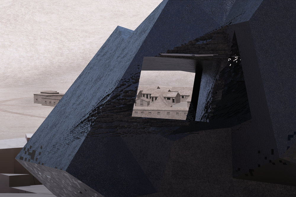 voids in the monoliths framing views